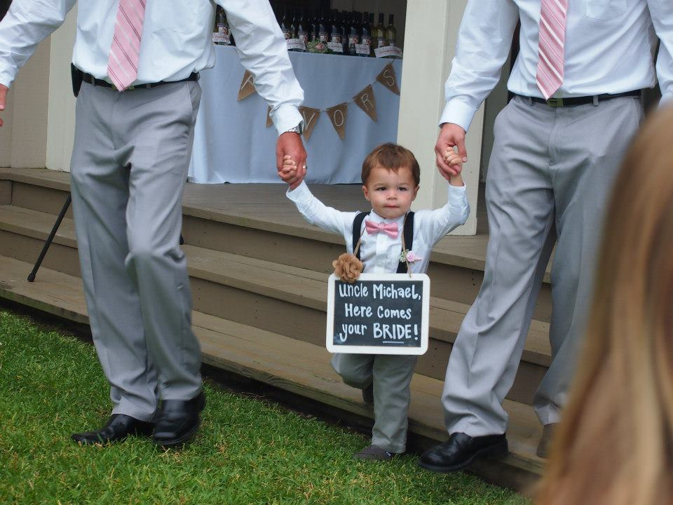 Funny wedding signs for ring bearer